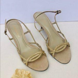 Bandolino strappy short heels size 8